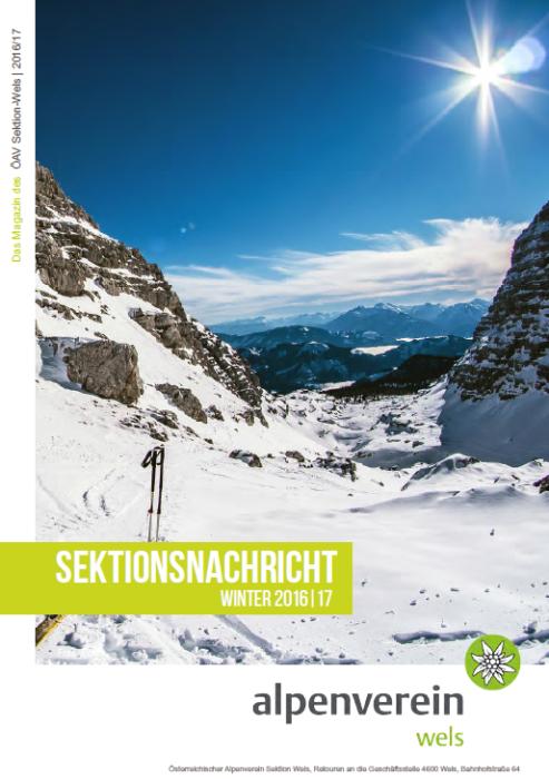 Sektionsnachrichten Winter 2016/2017