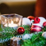 Punschstand im Weihnachtsdorf