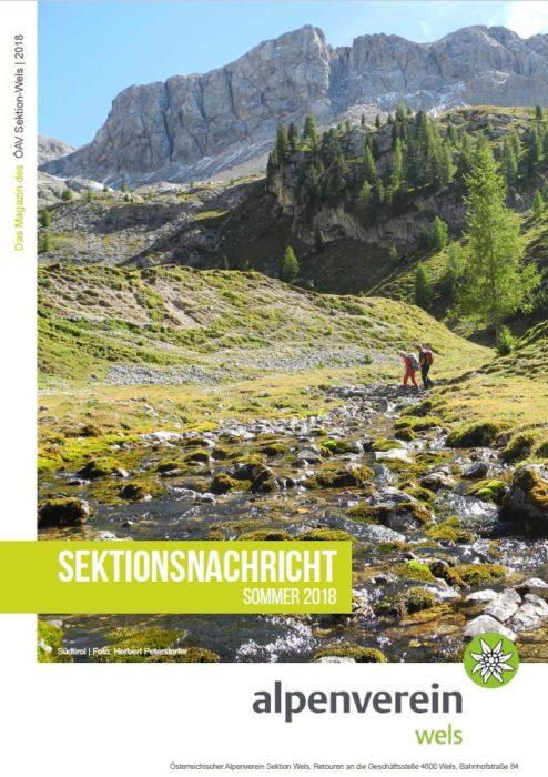 Sektionsnachrichten Sommer 2018