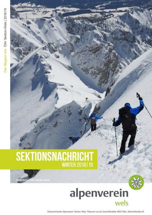 Sektionsnachrichten Winter 2018/2019