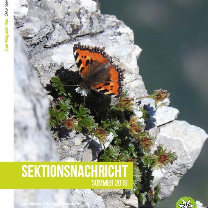 Sektionsnachrichten Sommer 2019