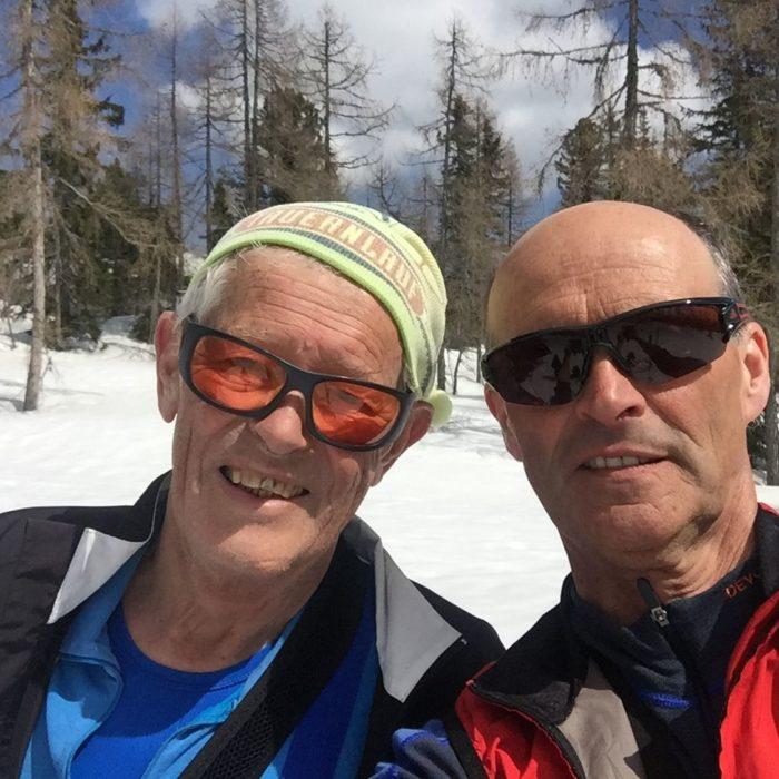 Zwei Ehrenobmänner auf einsamer Skitour