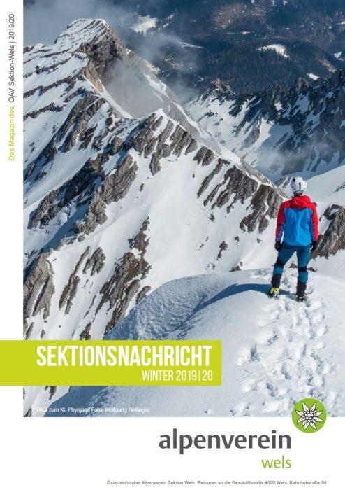 Sektionsnachricht Winter 2019/2020